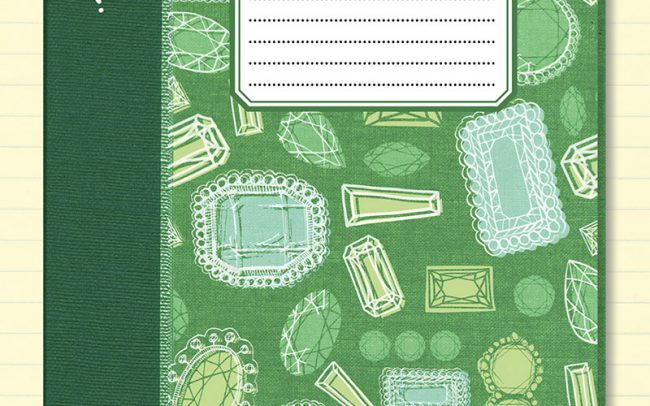 Gemstone illustration surface pattern for a Journal / Notebook